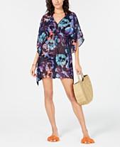b9e50e4f54 Calvin Klein Floral-Print Kaftan Cover-Up