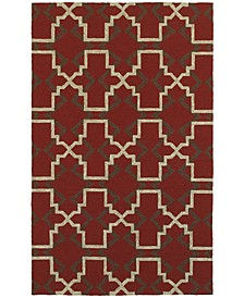 CLOSEOUT!   Atrium Indoor/Outdoor 51103 Red/Brown 8' x 10' Area Rug