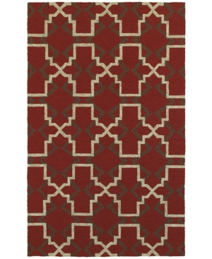Closeout! Tommy Bahama Home Atrium Indoor/Outdoor 51103 Red/Brown 8' x 10' Area Rug