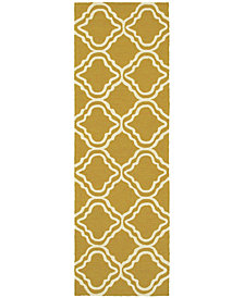 "Tommy Bahama Home  Atrium Indoor/Outdoor 51112 Gold/Ivory 2'6"" x 8' Runner Area Rug"