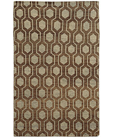 """Tommy Bahama Home  Maddox 56504 Brown/Blue 3'6"""" x 5'6"""" Area Rug"""