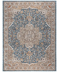 "KM Home Harper HA3307 Navy 7'10"" x 10'2"" Area Rug"