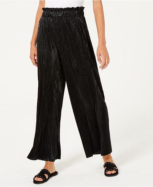 Be Bop Juniors' Pleated Metallic Pants