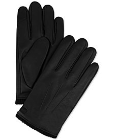 Calvin Klein Men's Triple Point Knit-Cuff Gloves