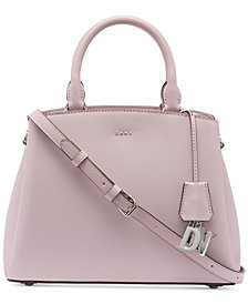 DKNY Paige Leather Medium Satchel, Created for Macy's