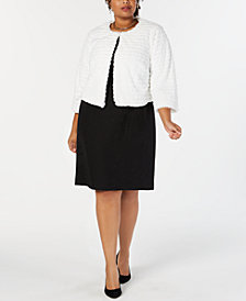 Robbie Bee Plus Size Faux-Fur Shrug Jacket