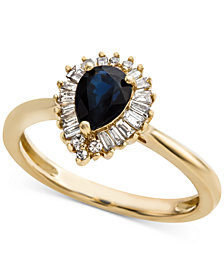 Sapphire (3/4 ct. t.w.) & Diamond (1/4 ct. t.w.) Ring in 14k Gold