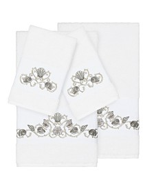 Linum Home Bella 4-Pc. Embroidered Turkish Cotton Bath and Hand Towel Set