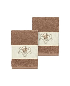 Bella 2-Pc. Embroidered Turkish Cotton Washcloth Set