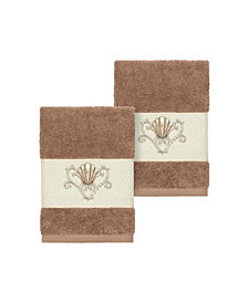 Linum Home Bella 2-Pc. Embroidered Turkish Cotton Washcloth Set