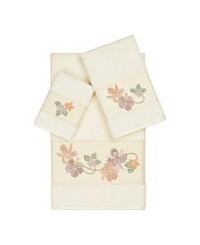 Linum Home Caroline 3-Pc. Embroidered Turkish Cotton Towel Set