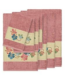 Caroline 8-Pc. Embroidered Turkish Cotton Bath and Hand Towel Set