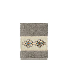 Gianna Embroidered Turkish Cotton Washcloth