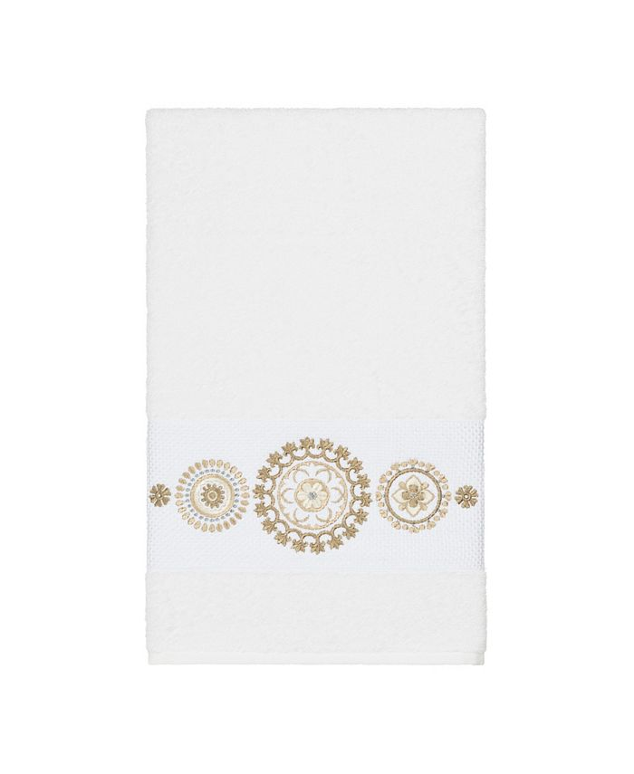 Linum Home - Isabelle Embroidered Turkish Cotton Bath Towel