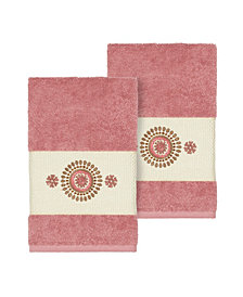 Linum Home Isabelle 2-Pc. Embroidered Turkish Cotton Hand Towel Set