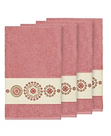 Isabelle 4-Pc. Embroidered Turkish Cotton Bath Towel Set