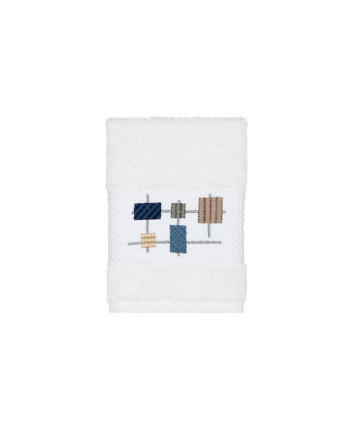 Linum Home - Khloe Embroidered Turkish Cotton Washcloth