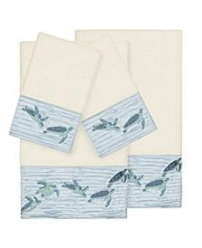 Mia 4-Pc. Embroidered Turkish Cotton Bath and Hand Towel Set