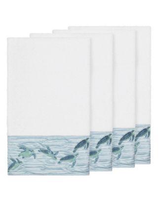 Mia 4-Pc. Embroidered Turkish Cotton Bath Towel Set