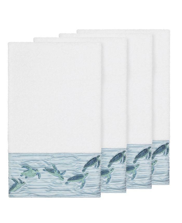 Linum Home - Mia 4-Pc. Embroidered Turkish Cotton Bath Towel Set