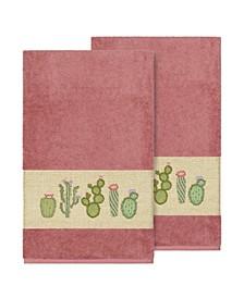Mila 2-Pc. Embroidered Turkish Cotton Bath Towel Set