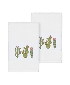 Mila 2-Pc. Embroidered Turkish Cotton Hand Towel Set