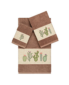 Linum Home Mila 3-Pc. Embroidered Turkish Cotton Towel Set