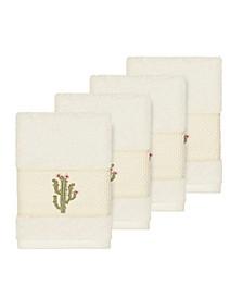 Mila 4-Pc. Embroidered Turkish Cotton Washcloth Set