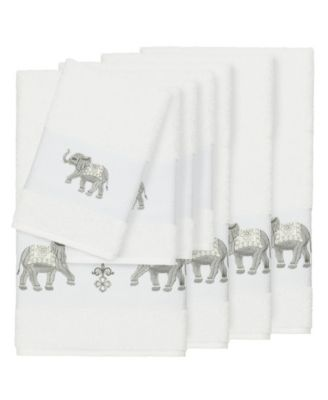 Quinn 8-Pc. Embroidered Turkish Cotton Bath and Hand Towel Set