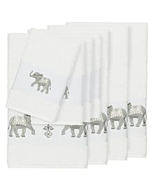 Linum Home Quinn 8-Pc. Embroidered Turkish Cotton Bath and Hand Towel Set