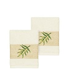Zoe 2-Pc. Embroidered Turkish Cotton Washcloth Set