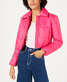 Bar III Cropped Puffer Jacket, Created for Macy's