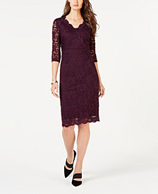 Alfani Lace Sheath Dress, Created for Macy's