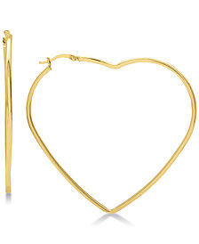 Large Heart Shape Hoop Earrings