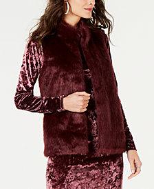 MICHAEL Michael Kors Faux-Fur-Front Sweater Vest in Regular & Petite Sizes