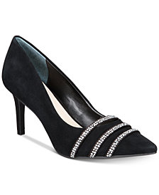 Alfani Women's Jeules Step 'N Flex Embellished Pointed-Toe Pumps, Created for Macys