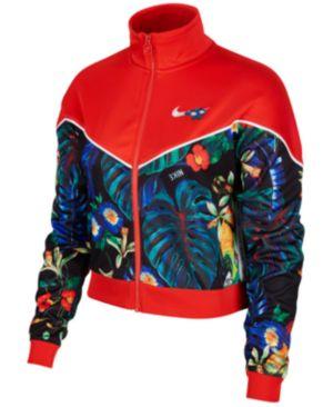 Sportswear Ultra-Femme Printed Cropped Track Jacket in Multi