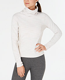 Nike Pro Hyperwarm Mock-Neck Fleece-Lined Top