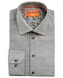 Tallia Men's Slim-Fit Non-Iron Performance Stretch Flowers & Circles Dress Shirt