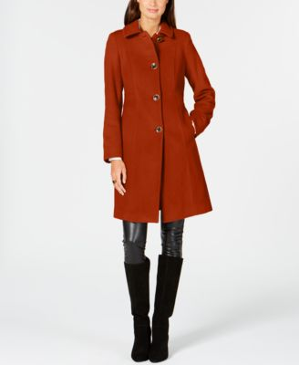 Single-Breasted Club-Collar Coat