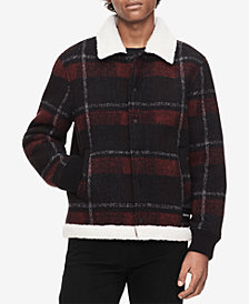 Calvin Klein Jeans Men's Plaid Fleece-Lined Chore Jacket