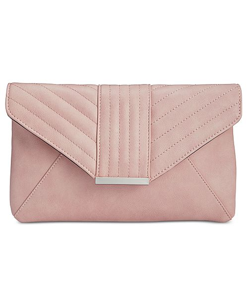 INC International Concepts I.N.C. Luci Quilted Envelope Clutch, Created for Macy's