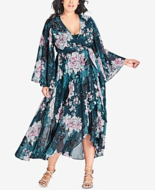 Plus Size Jade Blossom High-Low Dress