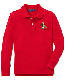 Polo Ralph Lauren Toddler Boys Holiday Bear Long-Sleeve Cotton Polo