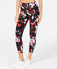 Calvin Klein Performance Printed High-Waist Mesh-Trimmed Leggings