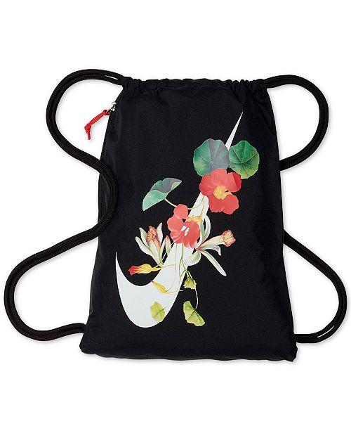 113f8f0ac8 Nike Ultra-Femme Floral-Logo Gym Sack   Reviews - Women s ...