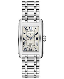 Longines Women's Swiss Automatic DolceVita Stainless Steel Bracelet Watch 27.7x43.8mm
