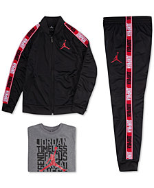 Jordan Little Boys Jumpman Graphic Legacy Zip-Up Jacket, Graphic-Print T-Shirt & Athletic Pants