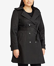 Lauren Ralph Lauren Plus Size Double Breasted Trench Coat