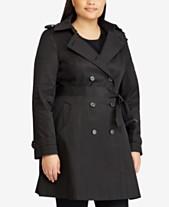 Lauren Ralph Lauren Plus Size Double Breasted Trench Coat 4738e7a2f7